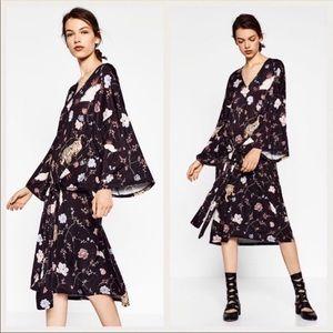 Zara Trafaluc Kimono Belted Dress
